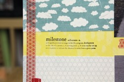 i used the MILESTONE definition block (and the patterned masking tape)