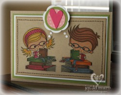 Jen Del Muro used BETTY THE BOOKWORM AND SPENCER THE BOOKWORM