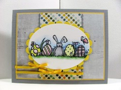 Lori Brown used ROW OF EGGS WITH BUNNY