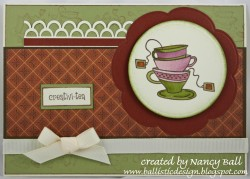 Nancy Ball used CUPPA TEA