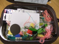 the Inside of the YUMMY sewing basket- NOT so much HAPPY