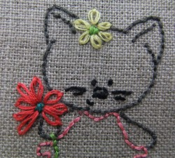 maisy with LAZY DAISY STITCHES