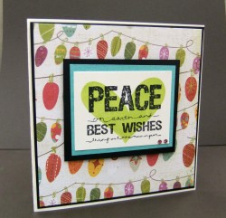 I made this card using YUMMY HEART shadow and LARGE sentiment and a little touch of bling