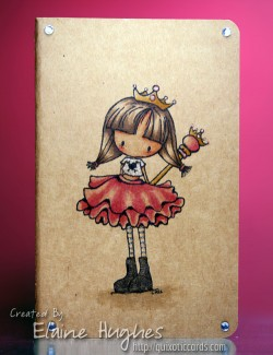 Elaineabella made a kraft moleskine beautiful with EVERYDAY PRINCESS