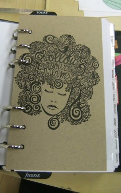 one of the first pages.. I LOVE her and the follow your dreams sentiment nestled in her hair.  MORE INSPIRATION!