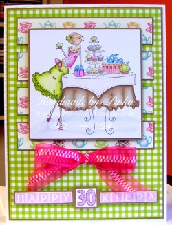 Here is PINKY (UK PINKY)'s card using UPTOWN GIRL CAITLYN