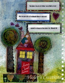 Here is Violet's page.. I love images of home :)  a big symbol in my work