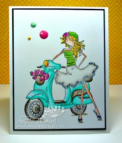 Angelabella used UPTOWN GIRL VIENNA on her VESPA
