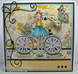 Stephabella used UPTOWN GIRL FLORA on her Bicycle