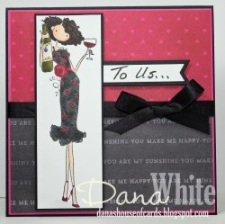 Danabella shared her actual anniversary card with us :)  Happy anniversary Danabella!  She used UPTOWN GIRL OPAL