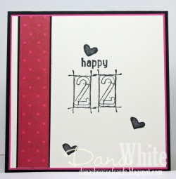 and for the INSIDE of Danabella's card she use our FRAMED NUMBERS set.. ooh I love those numbAHS