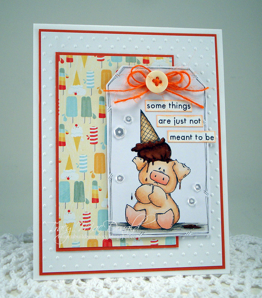 Spotlight On Peaches the Stuffie Rubber Stamps at Stamping Bella. Click through to read the post for card making inspiration!