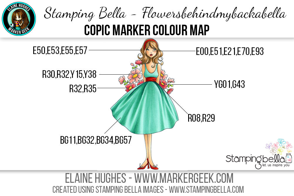 Stamping Bella Flowersbehindmybackabella Copic Colour Map by Marker Geek