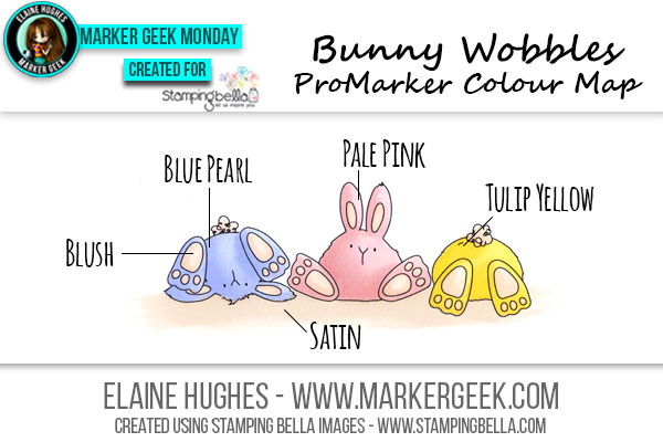 Stamping Bella Bunny Wobbles ProMarker Colour Map