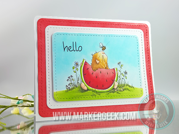 Stamping Bella Gilbert has a Snack rubber stamp. Click through for blog post with inspiration!