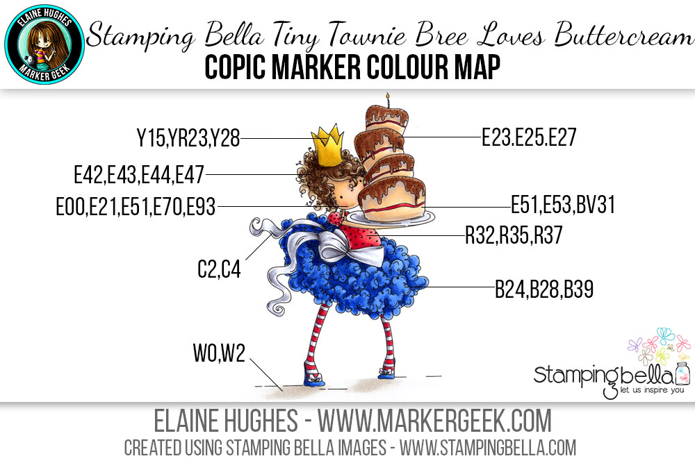 Stamping Bella Tiny Townie Bree Loves Buttercream Copic Colour Map by Marker Geek. Click through to read the article and watch a video!