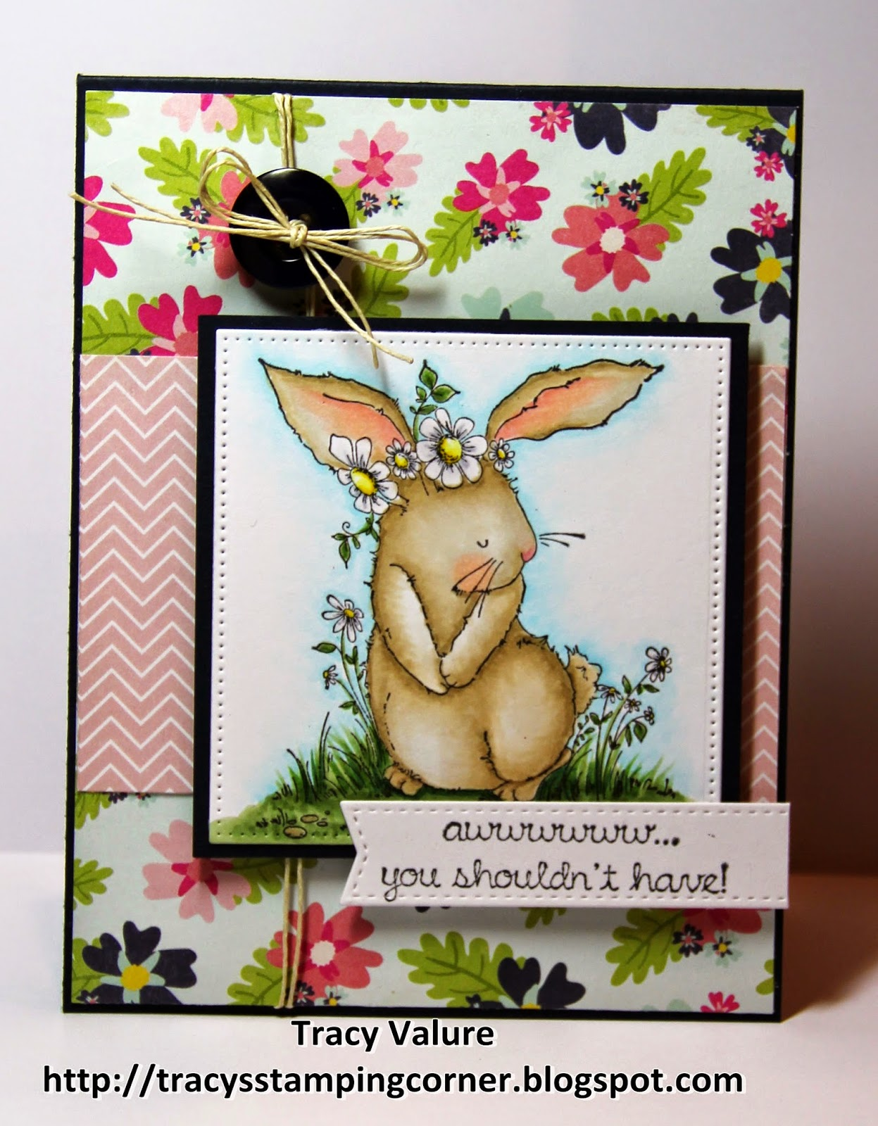 Stamping Bella Bedelia the Bunny rubber stamp. Click through for blog post with inspiration!