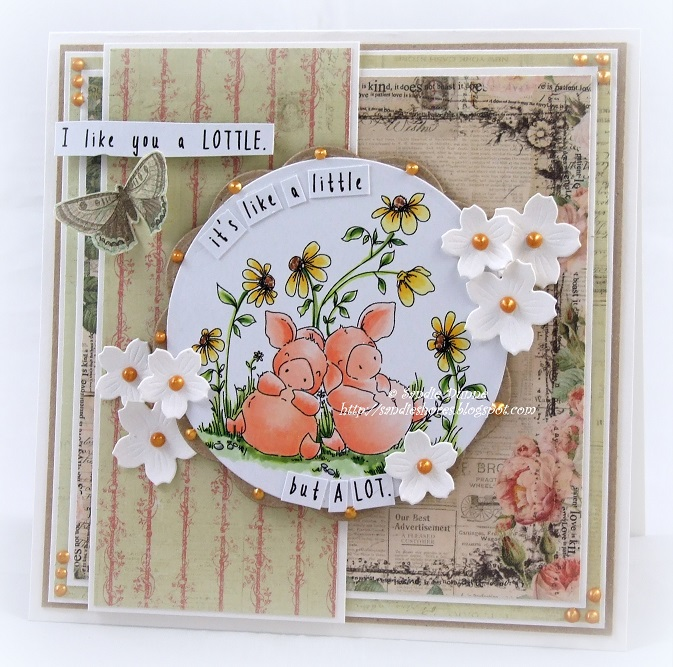 Stamping Bella Petunia and Penny Take a Break rubber stamp. Click through for blog post with inspiration!
