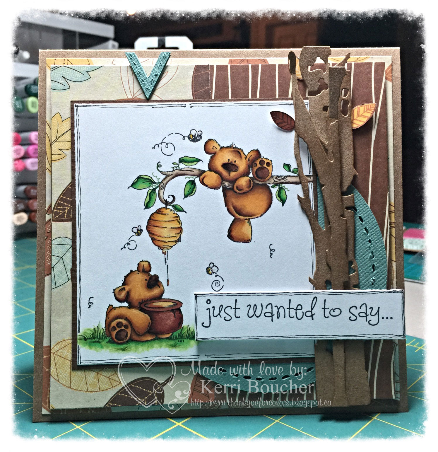 Stamping Bella HoneyBear Stuffies rubber stamp. Click through to read the blog post for inspiration!