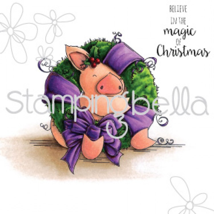 Stamping Bella Petunia Loves Christmas rubber stamp. Click through for blog post with inspiration!