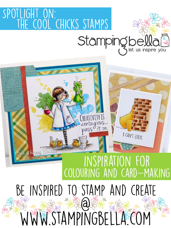 Stamping Bella Cool Chicks Rubber Stamps. Click through to read the blog post, watch videos and be inspired!
