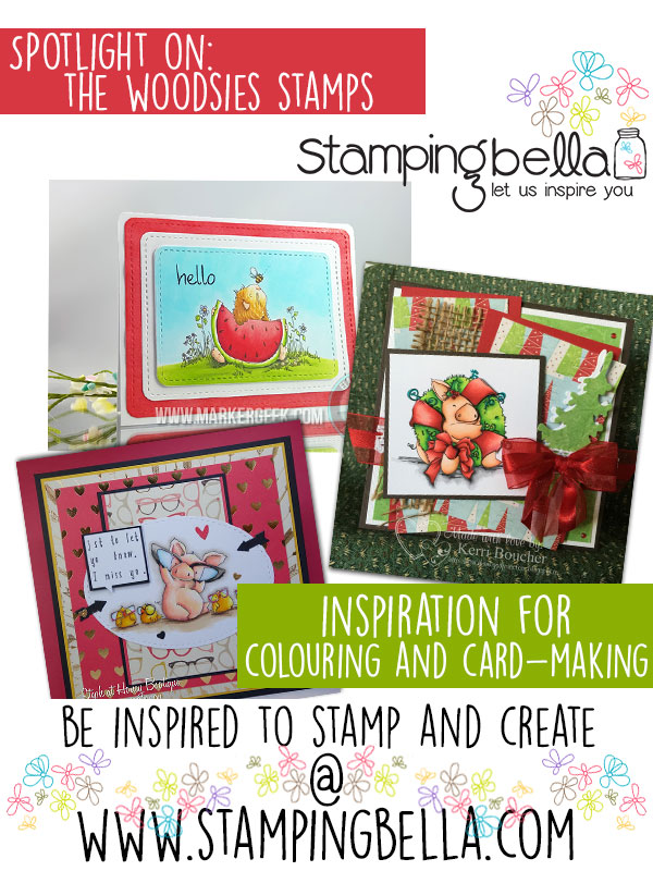 Stamping Bella Woodsies Rubber Stamps. Click through to read the blog post, watch videos and be inspired!