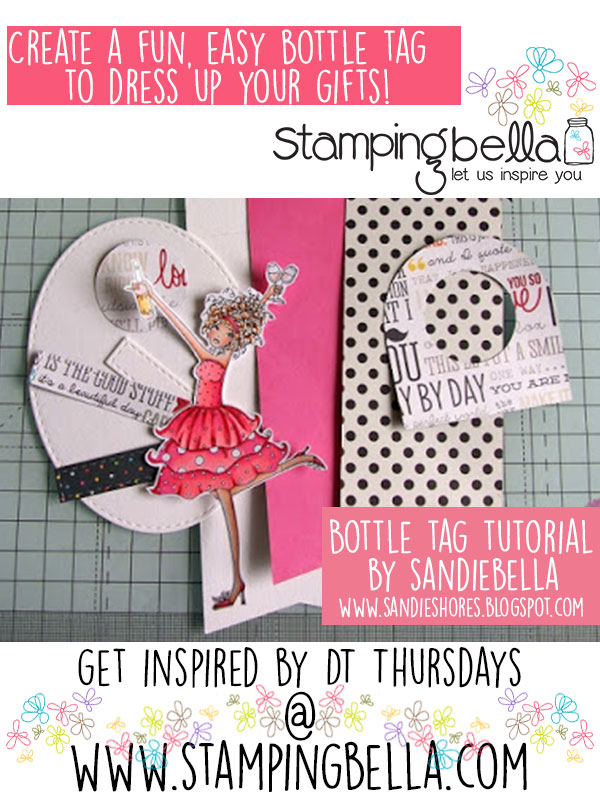 Fun and Easy Bottle Tag ft Stamping Bella Winobella. Click through to read the blog post for the step by step!