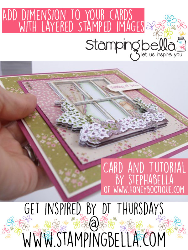 Stamping Bella DT Thursday with Stephabella - Dimensional Images Cardmaking Tutorial. Click through to read the tutorial!