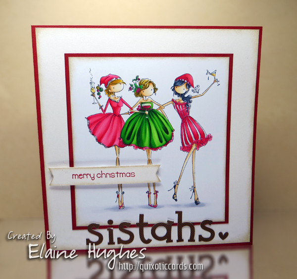 Stamping Bella Uptown Girls Three Amigas rubber stamp. Click through for blog post with inspiration!