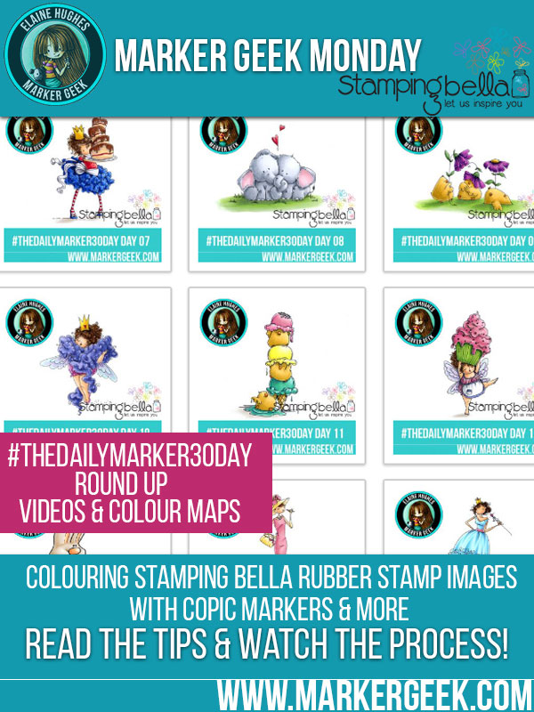 Marker Geek Monday #thedailymarker30day Round Up. Click through for colouring, videos and colour maps!
