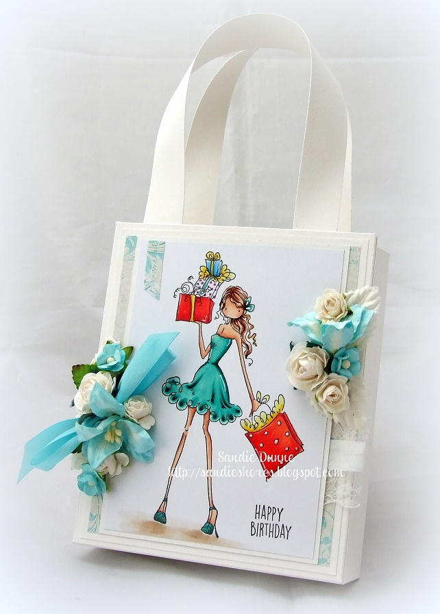 Stamping Bella DT Thursday - Create a Beautiful Gift Bag with Sandiebella. Click through for full step by step instructions and a bonus download!