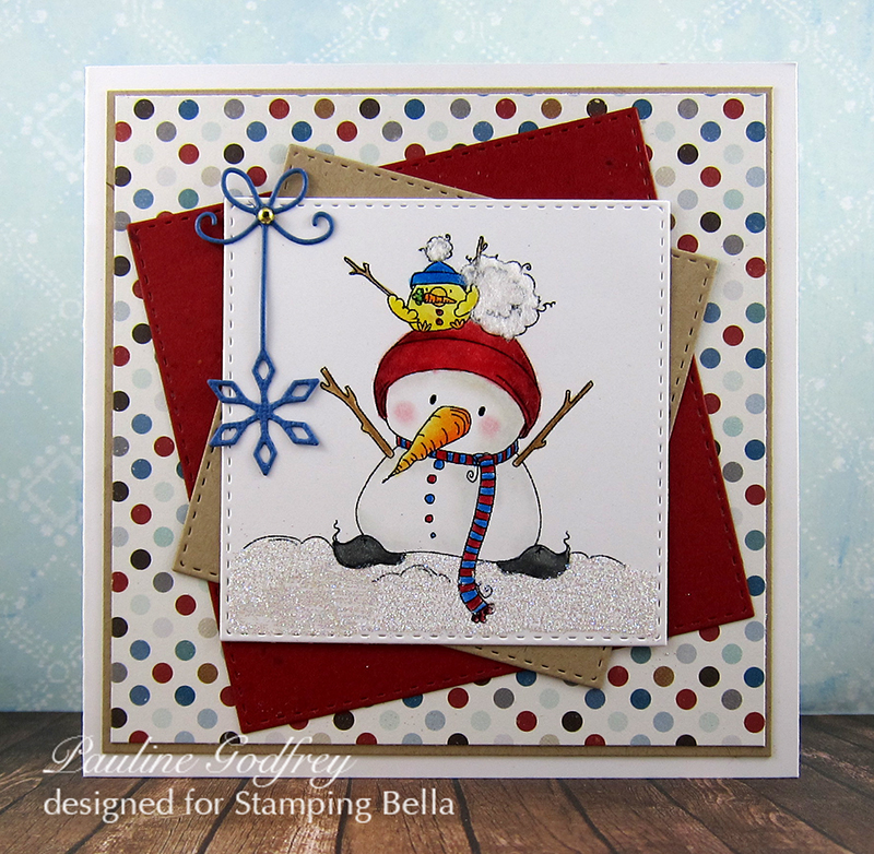 Stamping Bella HOLIDAY RELEASE -SNEAK PEEK DAY 7 -Snowman with a CHICK on TOP