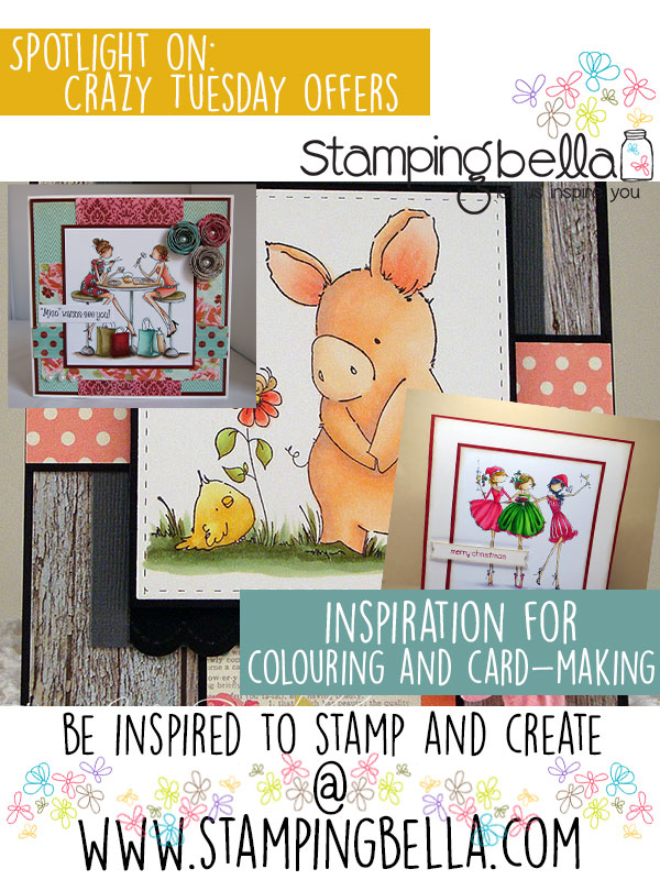Stamping Bella Crazy Tuesday 2nd August 2016. Click through for blog post with inspiration!