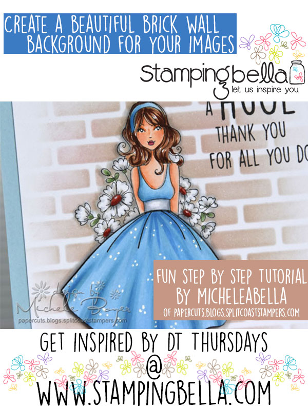 Stamping Bella DT Thursday: Creating a Beautiful Brick Background. Click through to see the step by step tutorial!