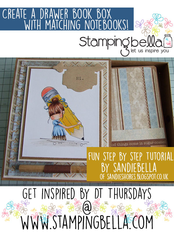 Design Team Thursday with Stamping Bella- Drawer Box and matching Notebook tutorial. Click through for a step by step guide with scoring info!