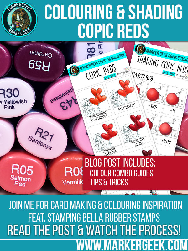 Marker Geek - Colouring & Shading Copic Reds. Click through for more info!