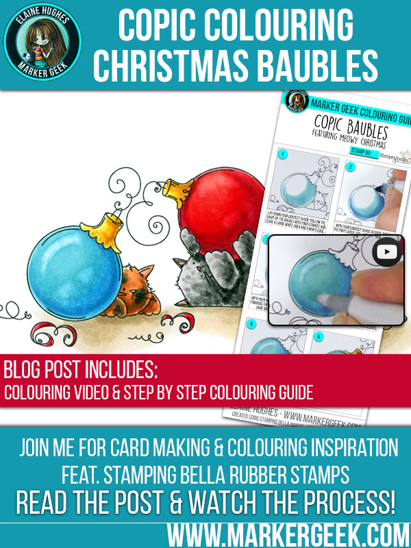 Marker Geek - Colouring Reflective Christmas Baubles. Click through for more info!