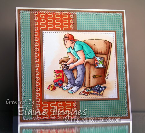 Mo Manning for Stamping Bella - Game On. Card by Elaineabella.