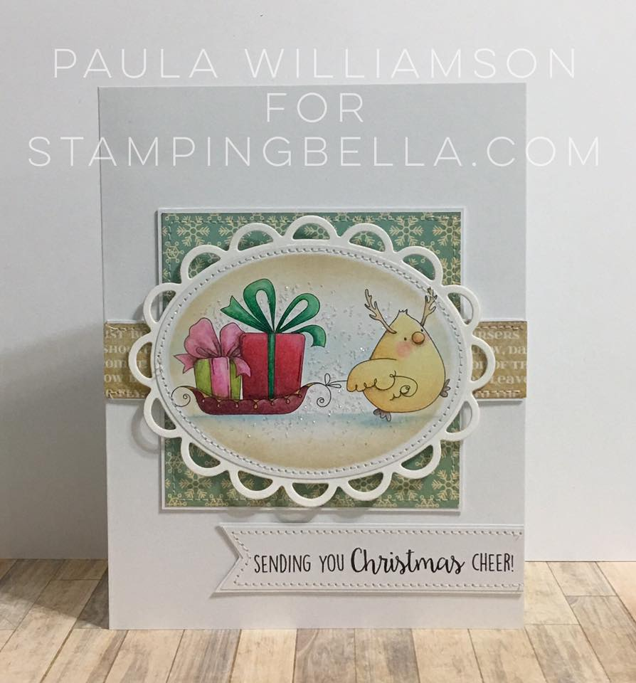 Stamping Bella BELLARIFIC FRIDAY CHALLENGE CARD SKETCH!- CHICKADEER