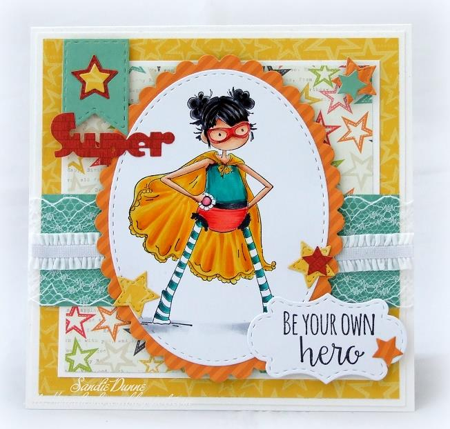 Stamping Bella BELLARIFIC FRIDAY CHALLENGE CARD SKETCH!- Tiny Townie HAYLEY the SUPERHERO