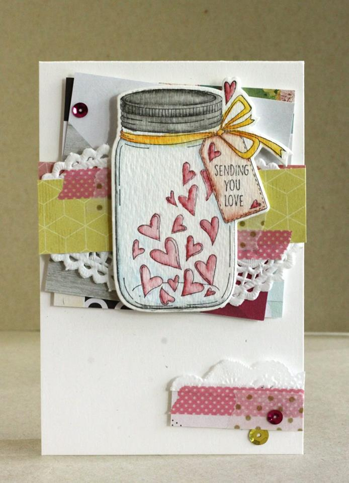 Stamping Bella BELLARIFIC FRIDAY CHALLENGE CARD SKETCH!-MASON JAR OF HEARTS