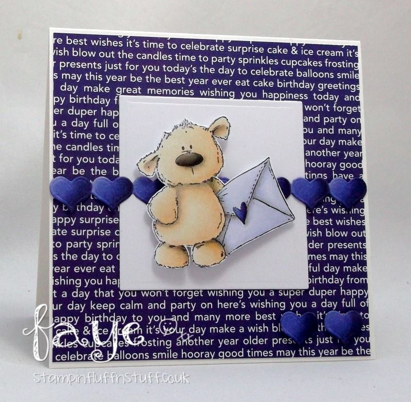 Stamping Bella BELLARIFIC FRIDAY CHALLENGE CARD SKETCH!- HARRY loves HAPPY MAIL STUFFIE