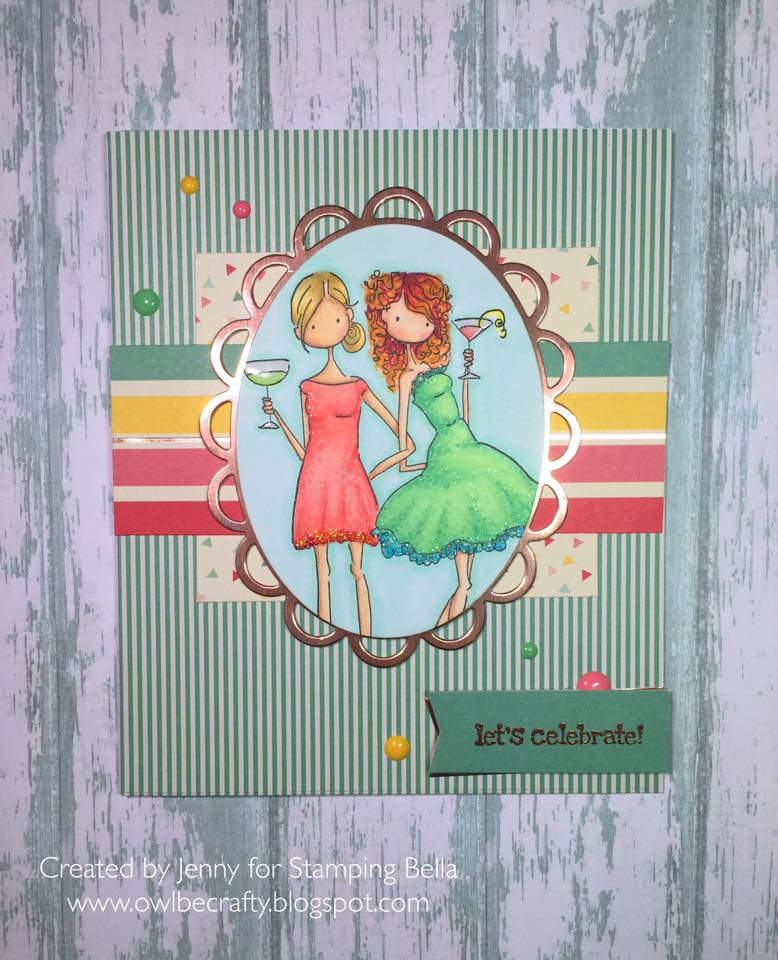 Stamping Bella BELLARIFIC FRIDAY CHALLENGE CARD SKETCH!- VICTORIA and JULIETTE