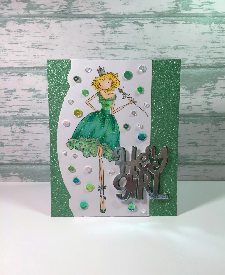 wonderful wednesday with JENNY-  HOW TO MAKE A SUPER SPARKLY CARD