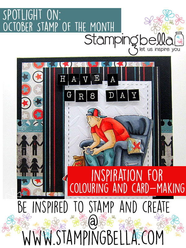 Stamping Bella Spotlight On October 2016 Stamp of the Month - Mo Manning Game On. Click through for all the inspiration!