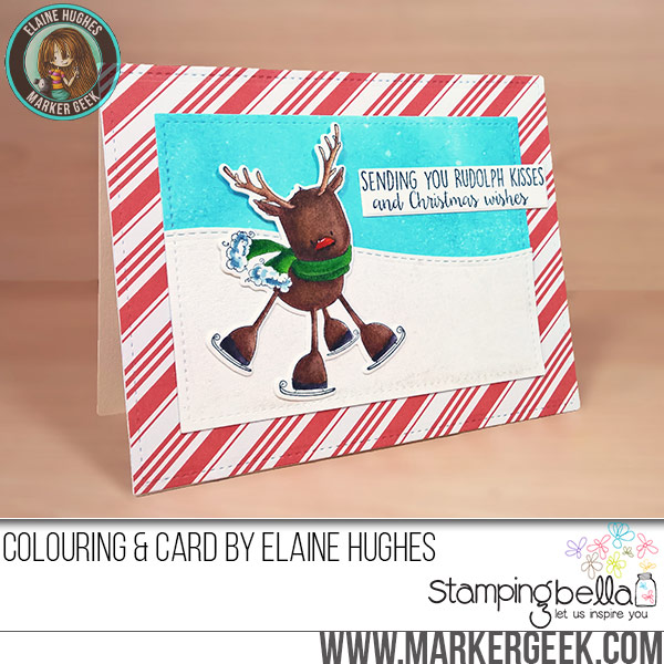 Marker Geek Monday: Colouring a Cute Reindeer Stamp using Zig Clean Color Real Brush Pens. Click through for the blog post and video!