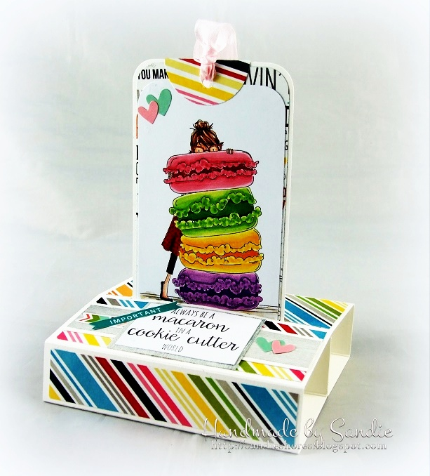 DT Thursday - Create a Freestanding Tag Card with Sandiebella. Click through for full step by step guide!