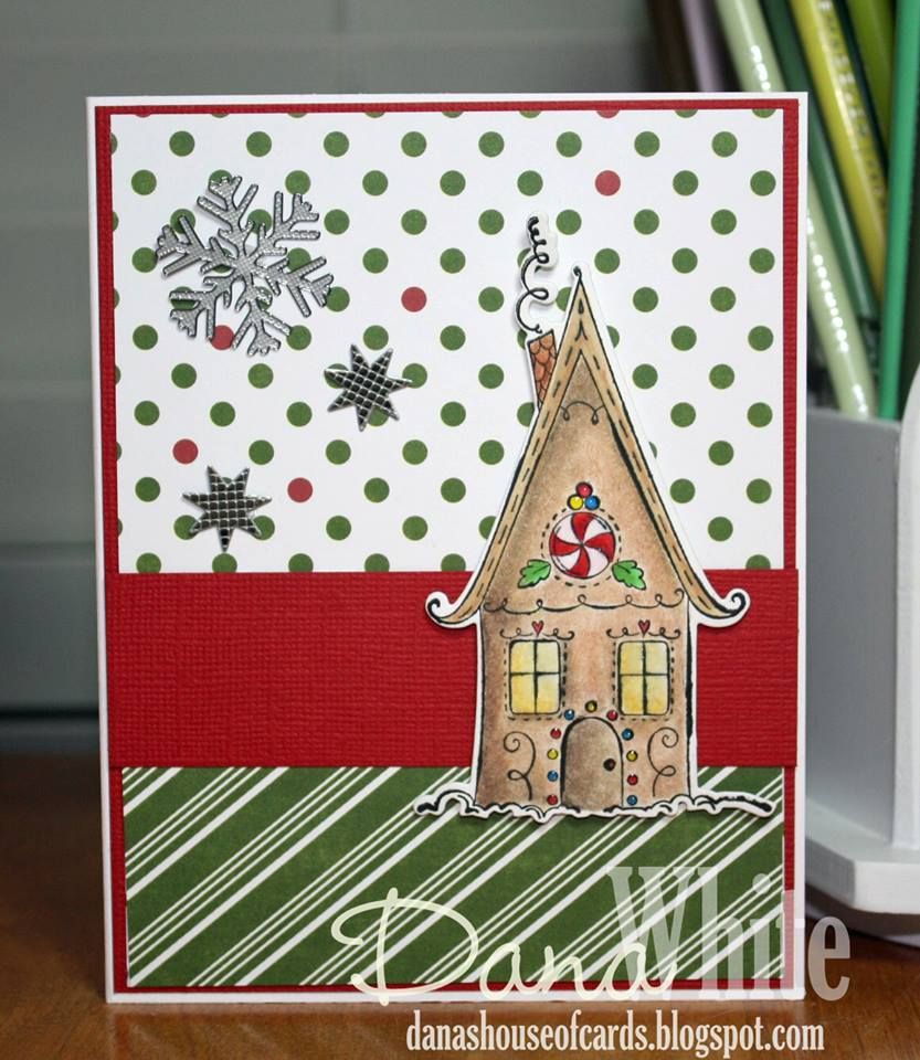 Bellarific Friday OCT. 14, 2016- GINGERBREAD HOUSE rubber stamp and cut it out die bundle