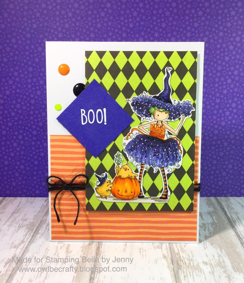 Bellarific Friday OCT. 14, 2016- Tiny Townie WILLOW THE WITCH CUT IT OUT DIE AND RUBBER STAMP BUNDLE