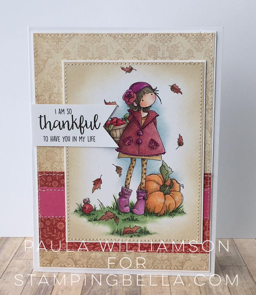 Bellarific Friday OCT. 14, 2016-TINY TOWNIE FAY LOVES FALL rubber stamp